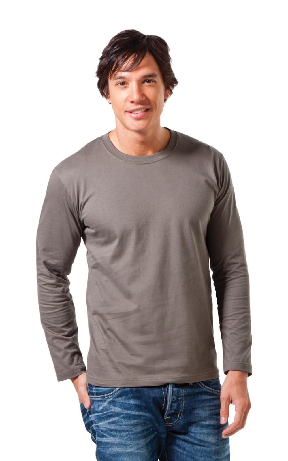 Hanes Mens Heavy Long Sleeve T