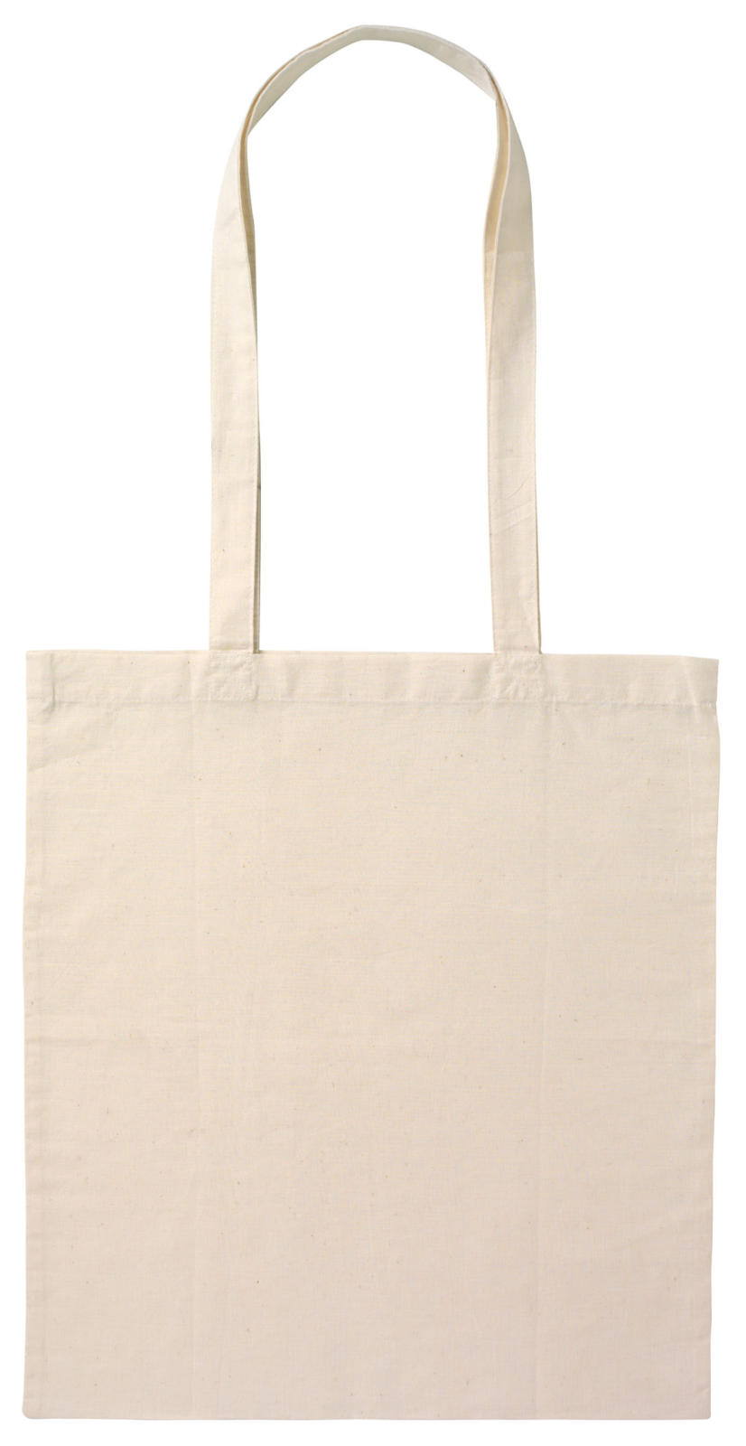 Calico Bag Long Handle - Natural