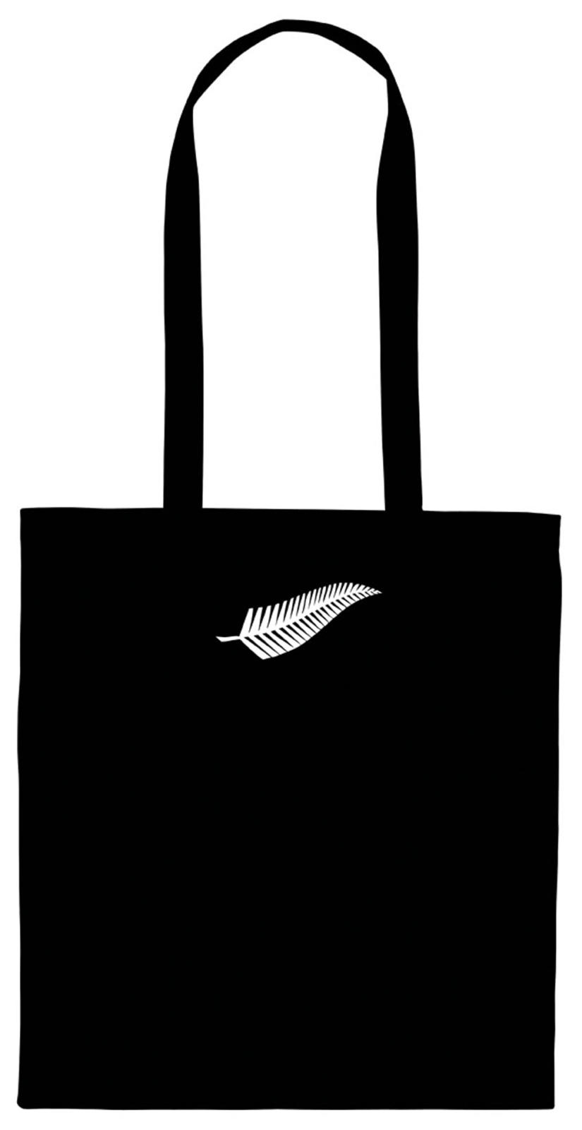 Silver Fern Calico Bag Long Handles