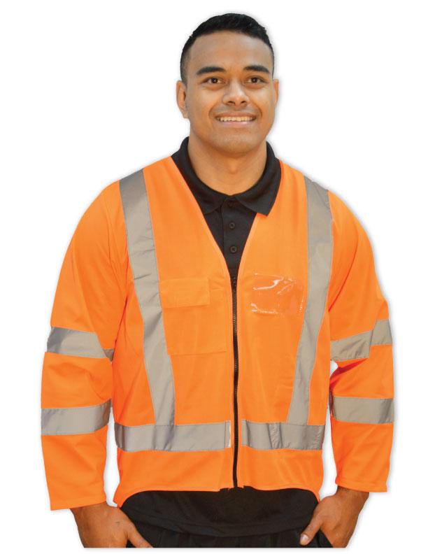 Hi Viz Long Sleeve Safety Vest