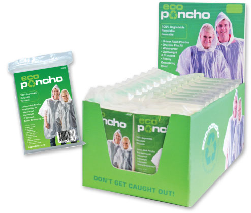 Eco-Poncho Retail Counter Display (30 ponchos)