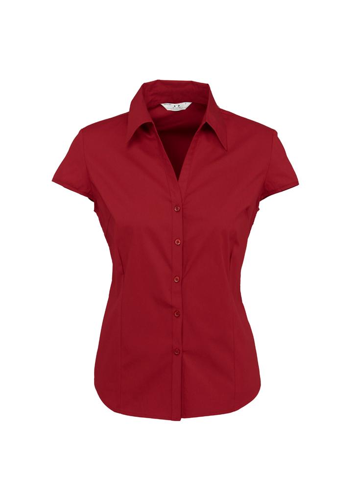 Ladies Metro Cap Sleeve Shirt