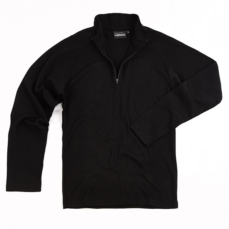 Mens Zip Merino