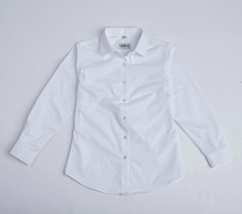 L/S Girls poplin blouse